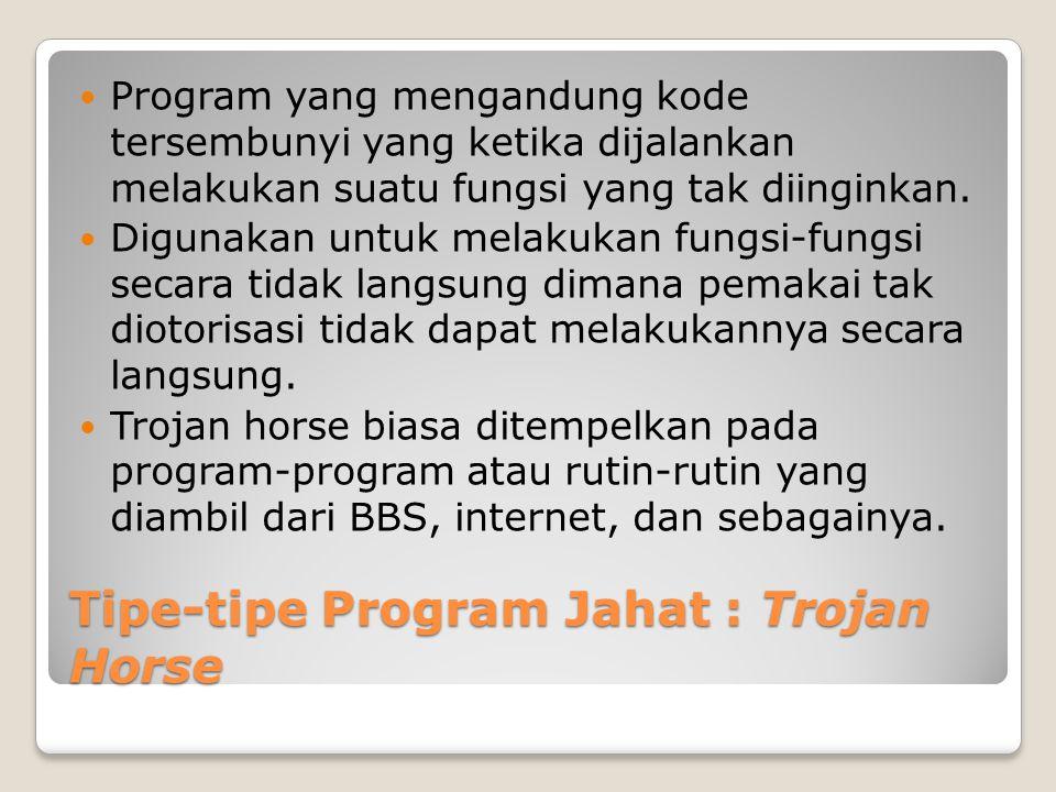 Tipe-tipe Program Jahat : Trojan Horse