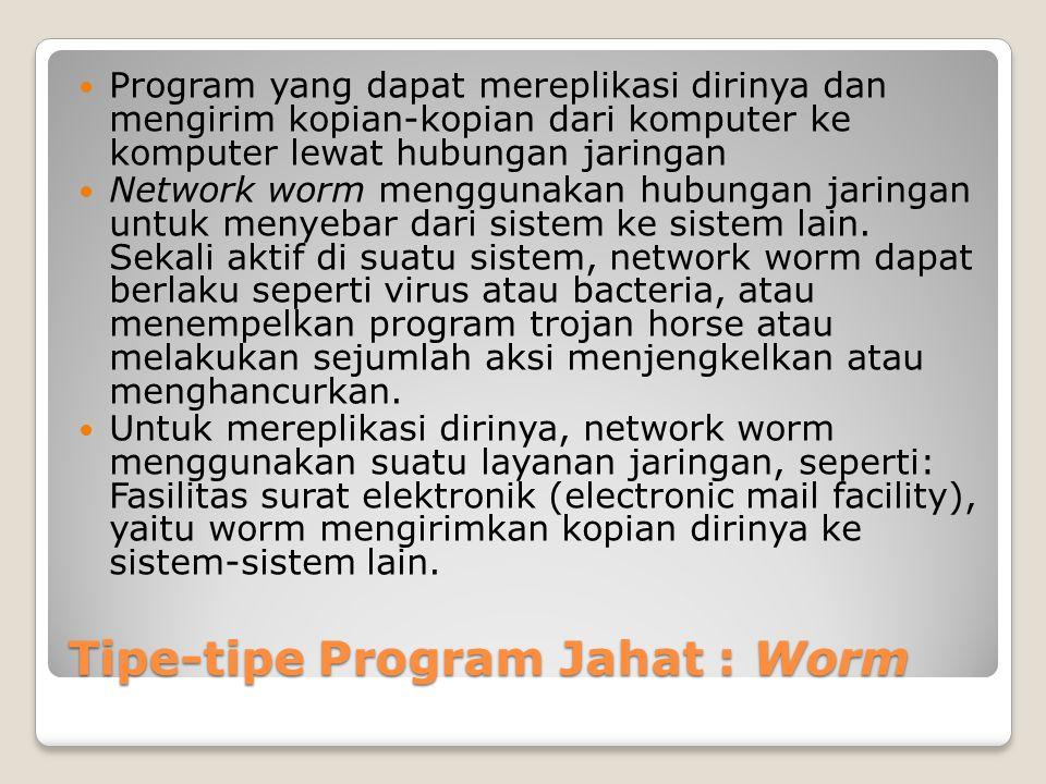 Tipe-tipe Program Jahat : Worm