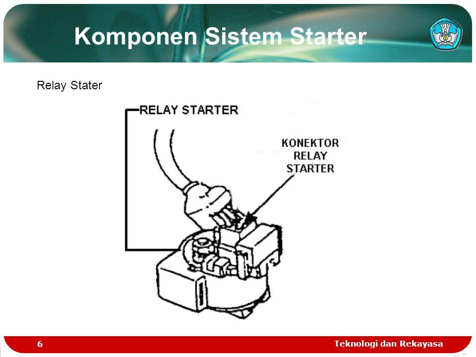 Komponen Sistem Starter