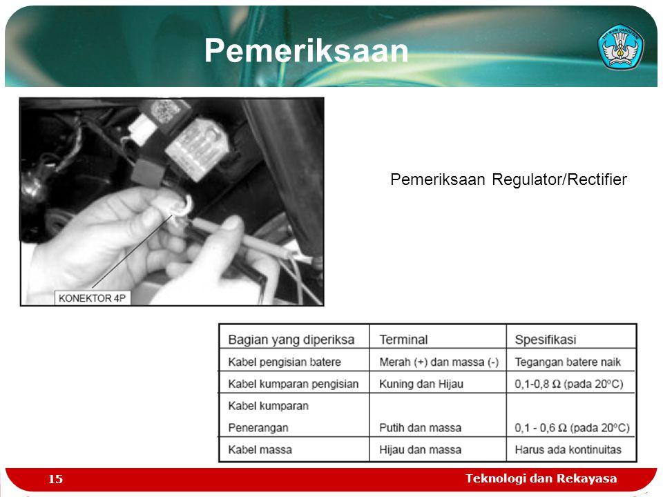 Pemeriksaan Regulator/Rectifier