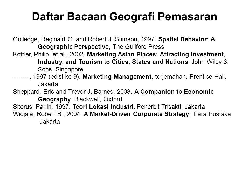 Daftar Bacaan Geografi Pemasaran