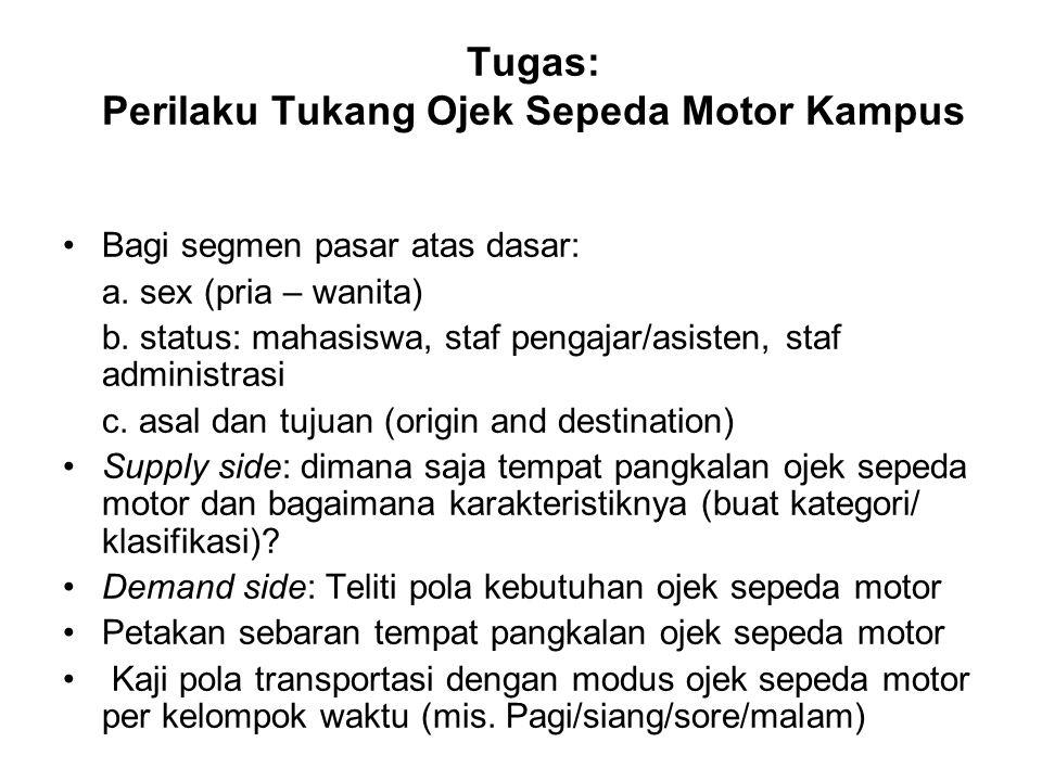 Tugas: Perilaku Tukang Ojek Sepeda Motor Kampus