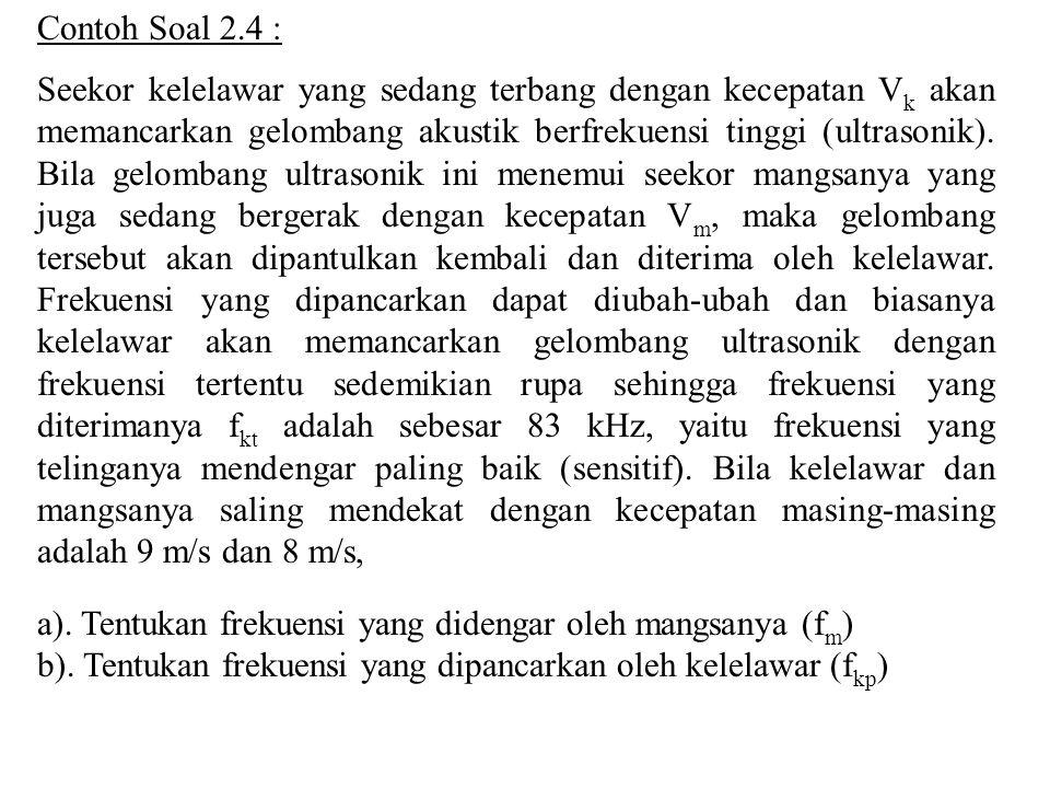 Contoh Soal 2.4 :