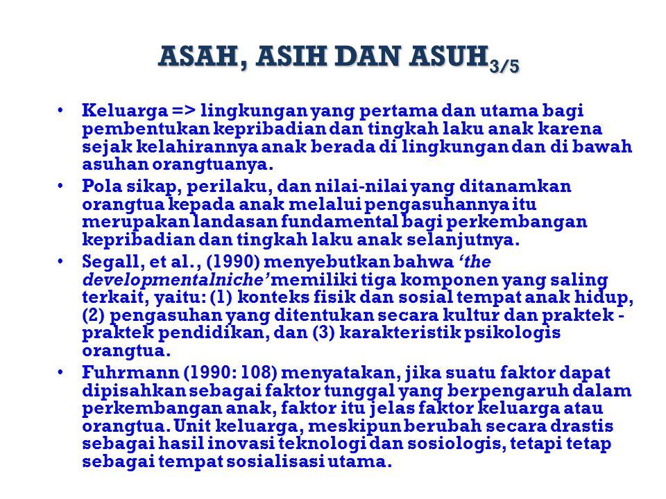 ASAH, ASIH DAN ASUH3/5