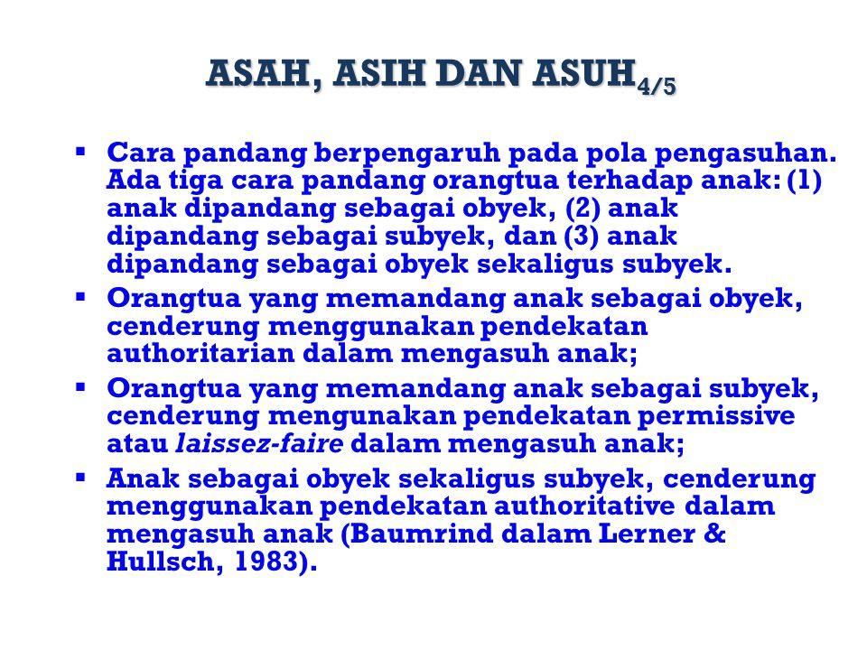 ASAH, ASIH DAN ASUH4/5