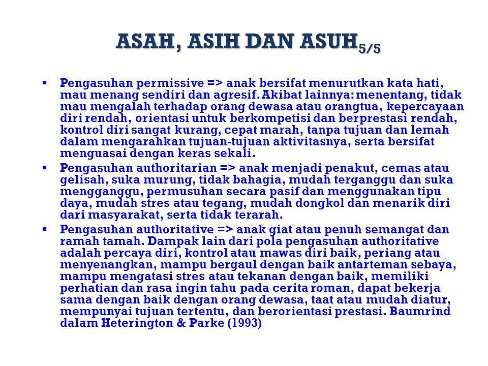 ASAH, ASIH DAN ASUH5/5