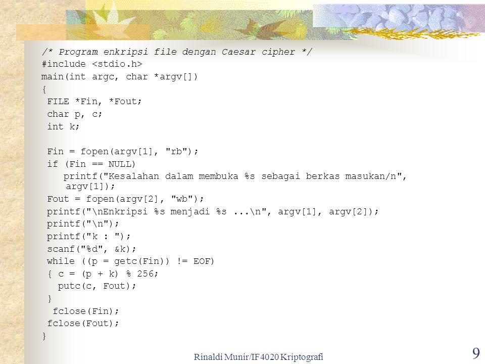 Rinaldi Munir/IF4020 Kriptografi