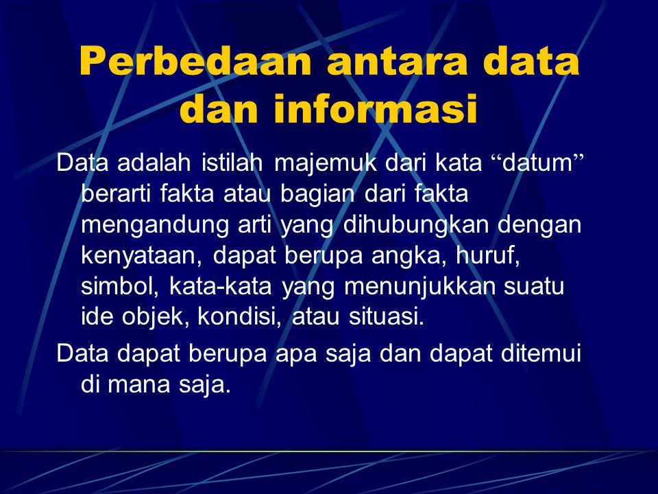Perbedaan antara data dan informasi