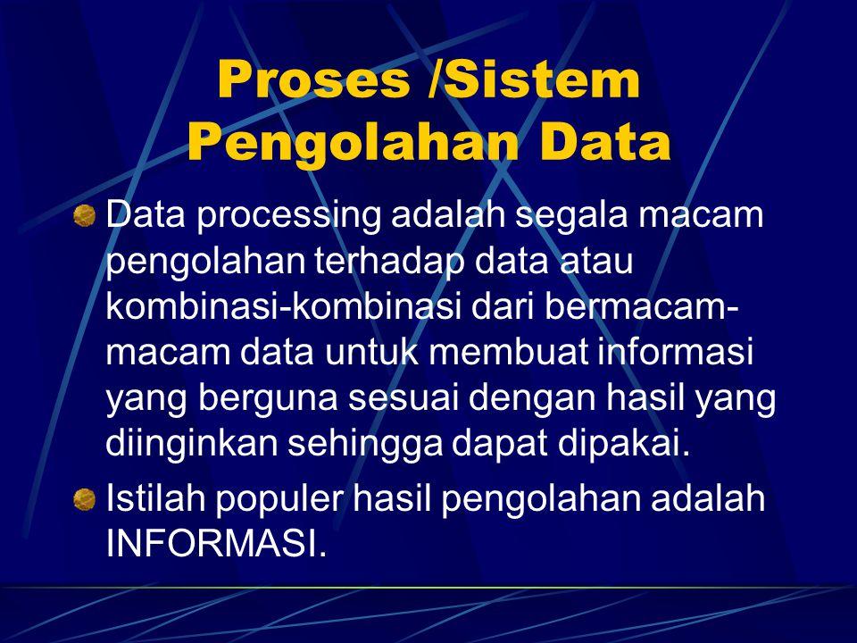 Proses /Sistem Pengolahan Data