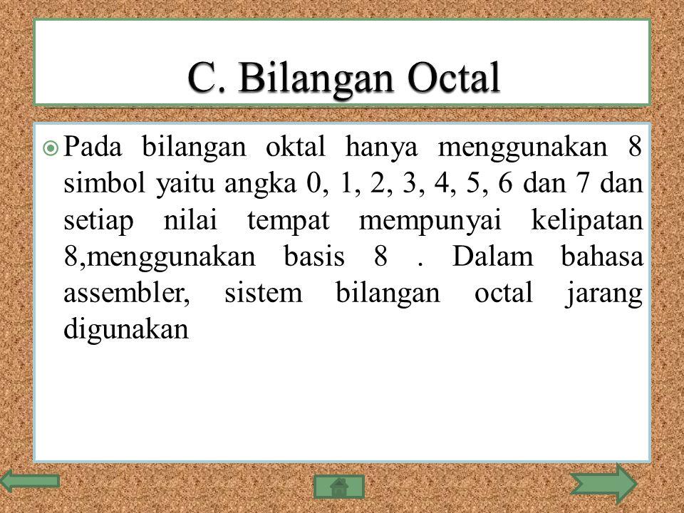 C. Bilangan Octal