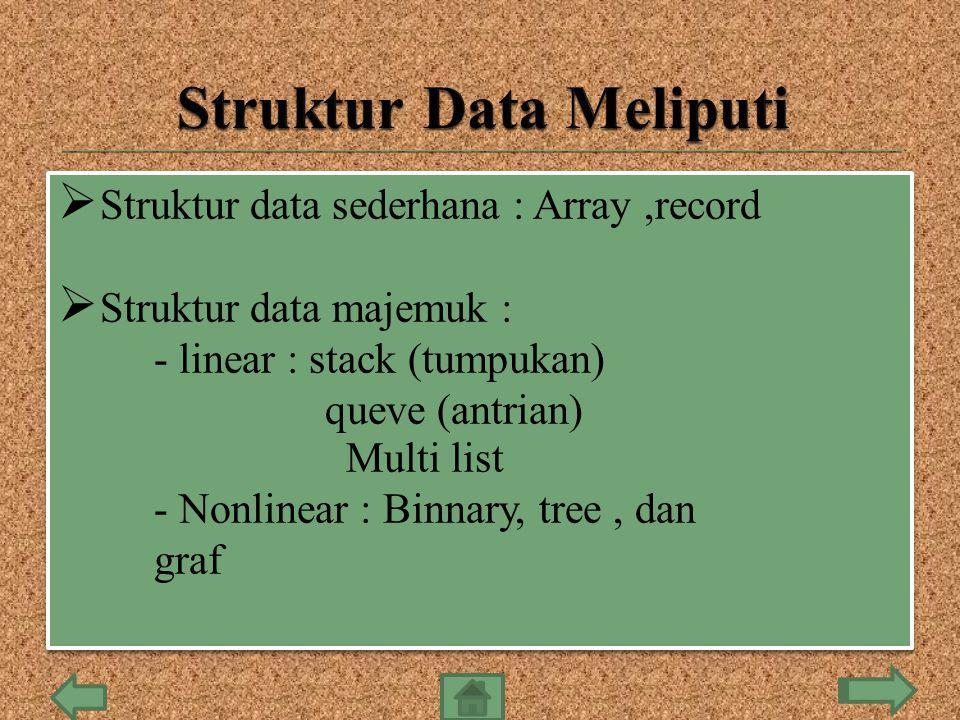 Struktur Data Meliputi