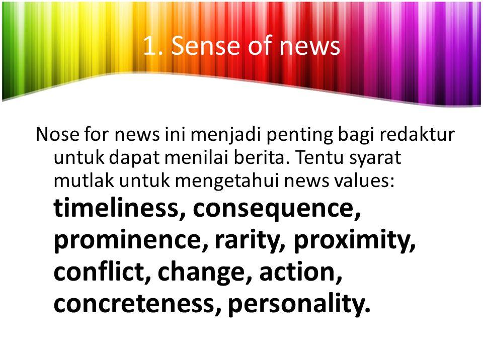 1. Sense of news