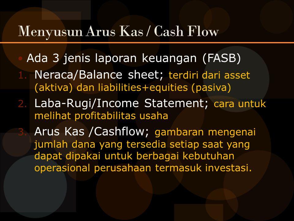 Menyusun Arus Kas / Cash Flow