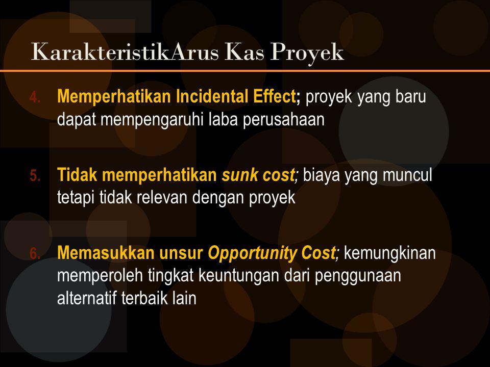 KarakteristikArus Kas Proyek