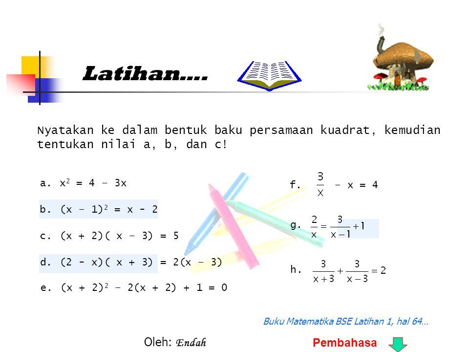 Buku Matematika BSE Latihan 1, hal 64…