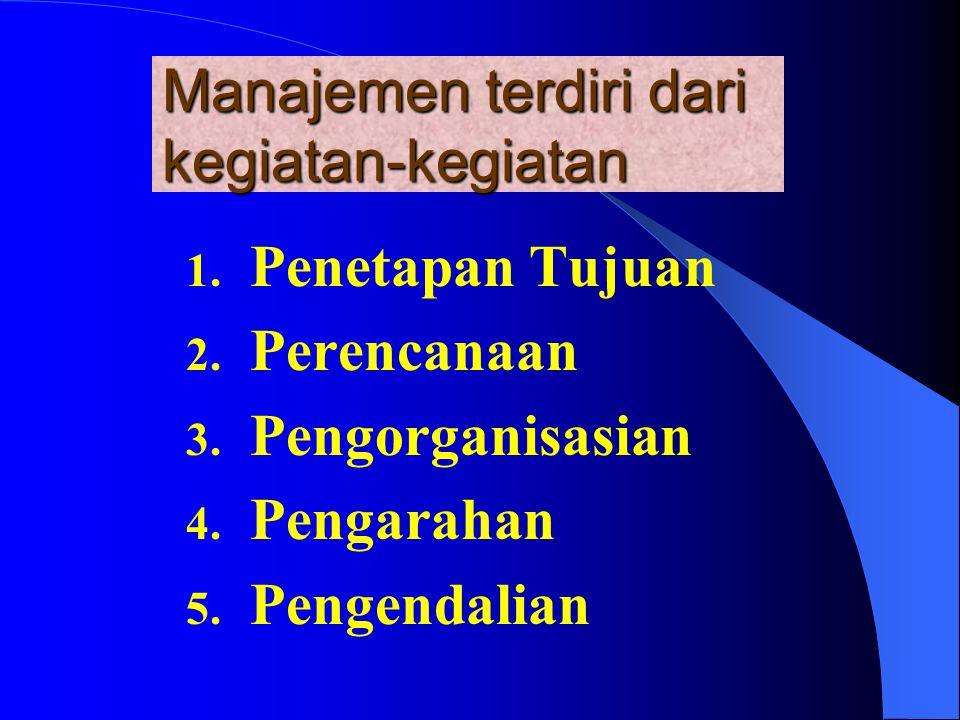 Manajemen terdiri dari kegiatan-kegiatan