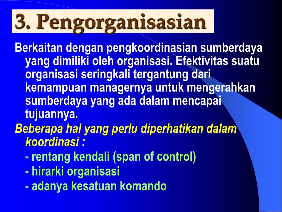 3. Pengorganisasian