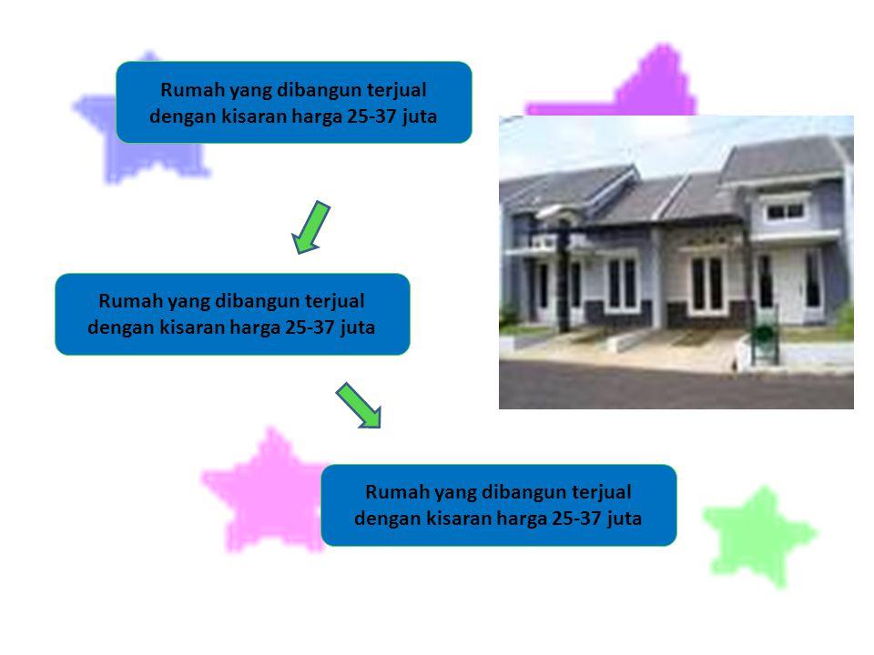 Rumah yang dibangun terjual dengan kisaran harga 25-37 juta