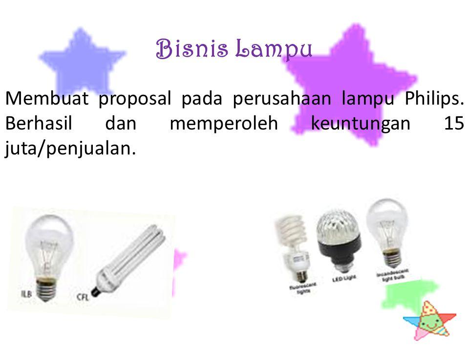 Bisnis Lampu Membuat proposal pada perusahaan lampu Philips.