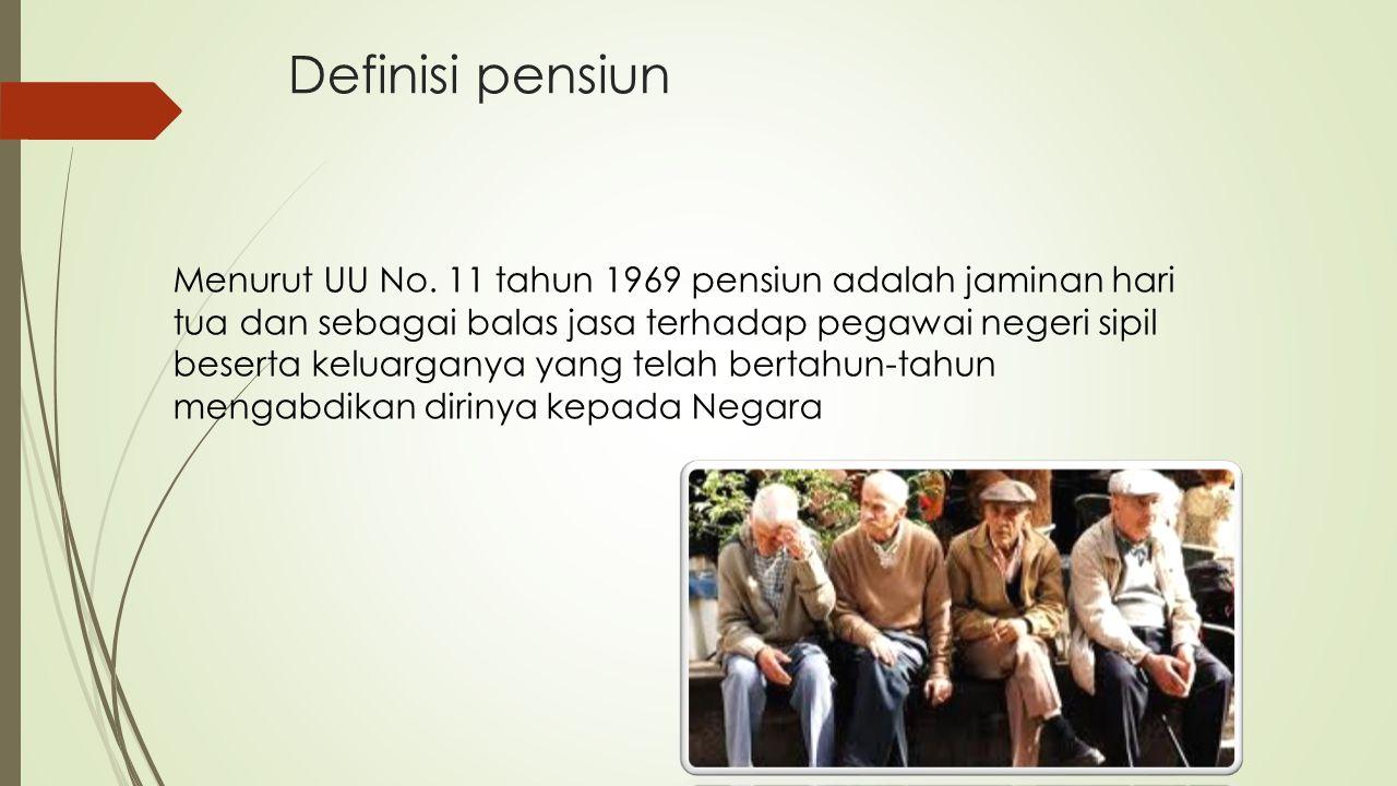 Definisi pensiun