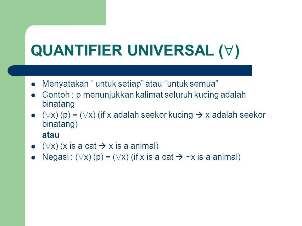 QUANTIFIER UNIVERSAL ()