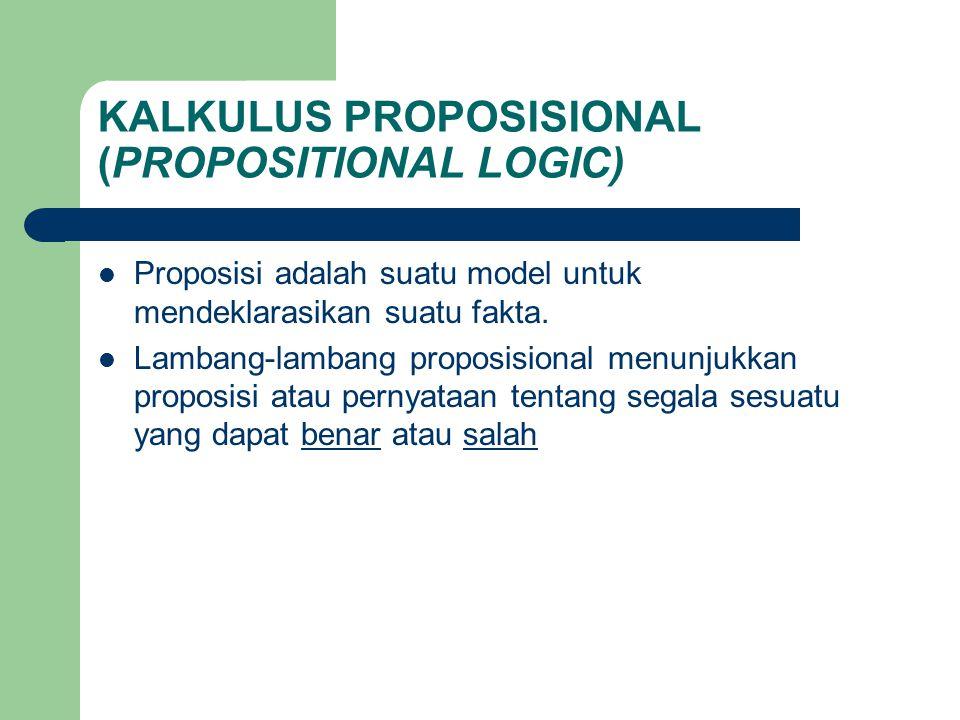 KALKULUS PROPOSISIONAL (PROPOSITIONAL LOGIC)