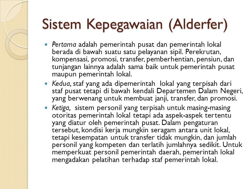 Sistem Kepegawaian (Alderfer)
