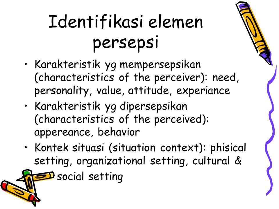 Identifikasi elemen persepsi