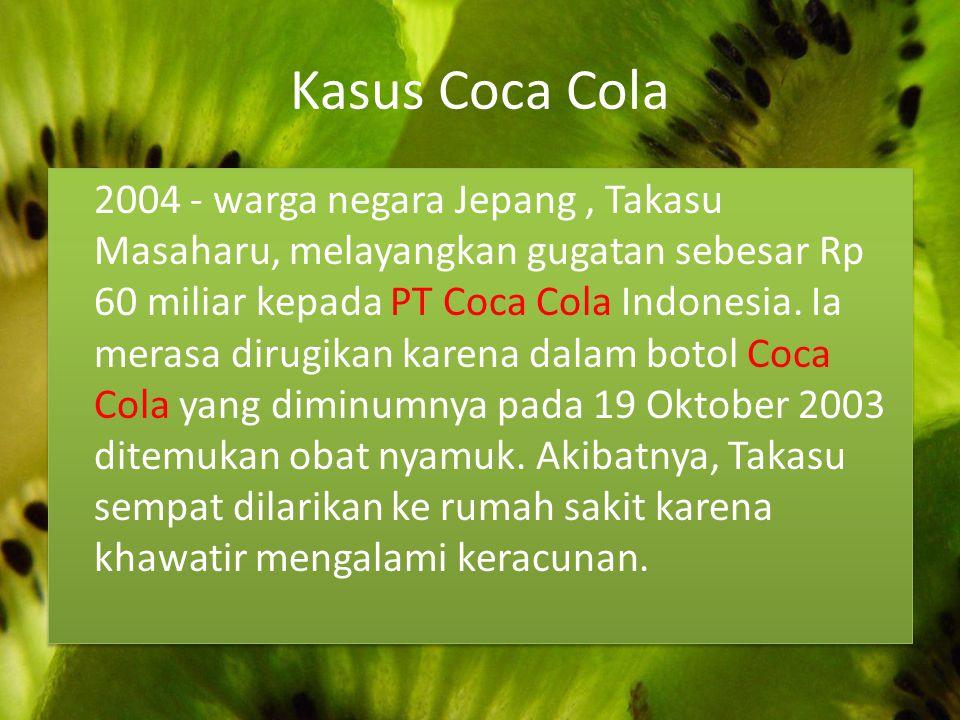 Kasus Coca Cola