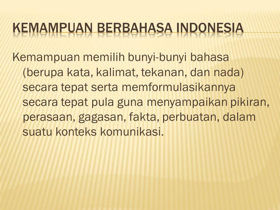 KEMAMPUAN BERBAHASA INDONESIA