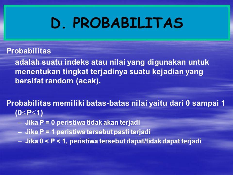 D. PROBABILITAS Probabilitas
