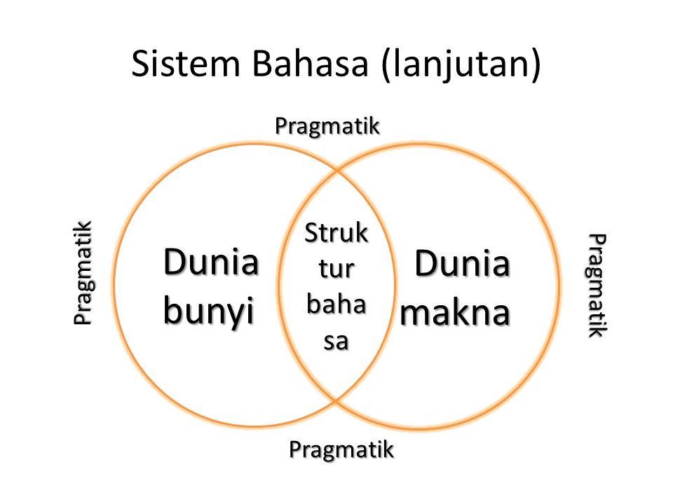 Sistem Bahasa (lanjutan)