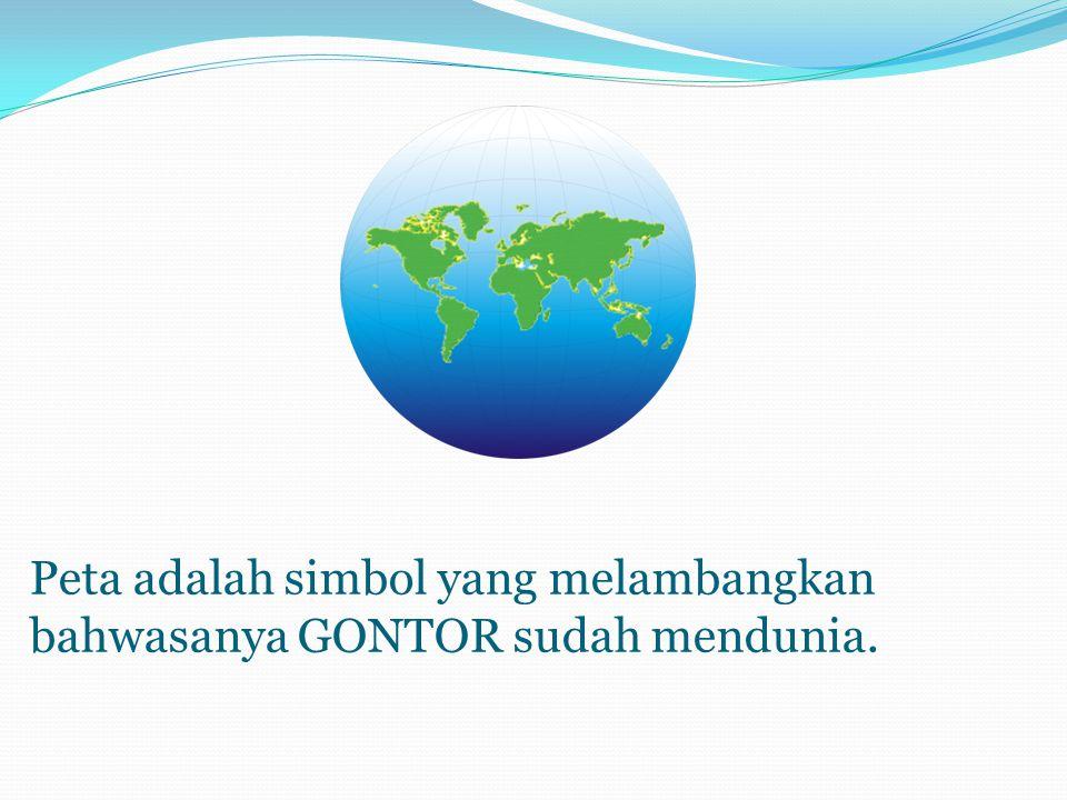 Peta adalah simbol yang melambangkan bahwasanya GONTOR sudah mendunia.