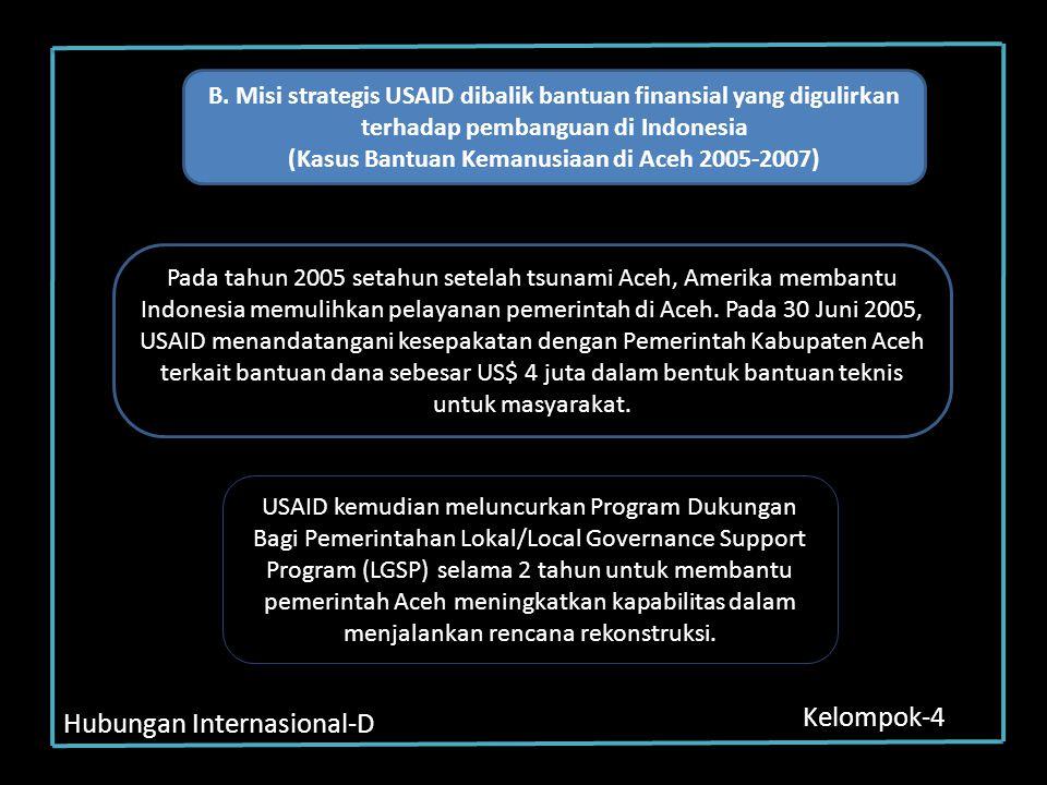 (Kasus Bantuan Kemanusiaan di Aceh 2005-2007)