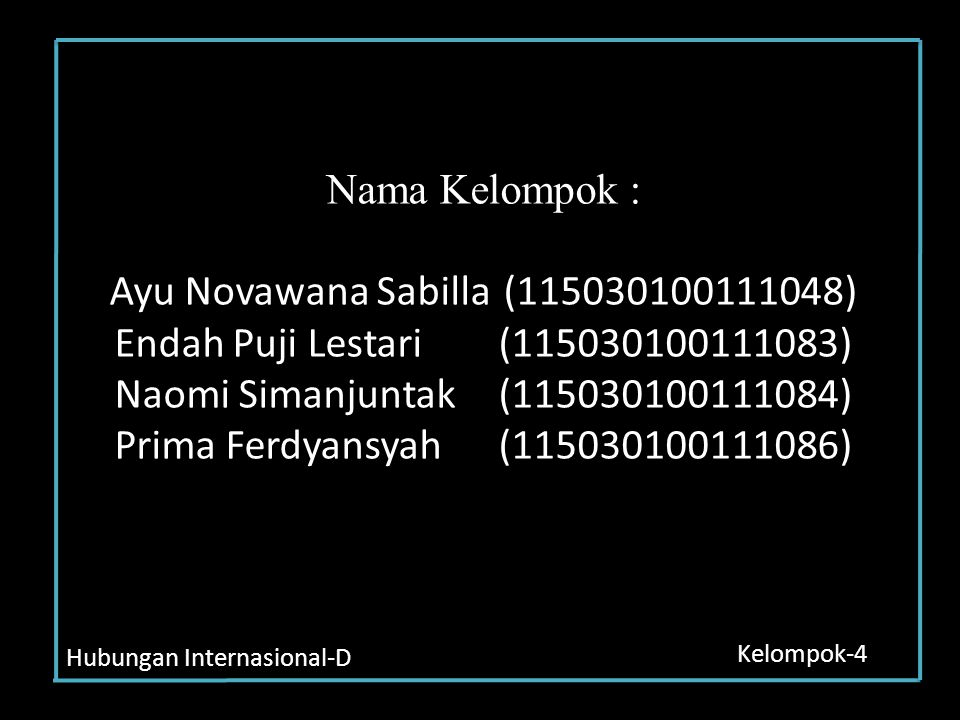 Nama Kelompok : Ayu Novawana Sabilla
