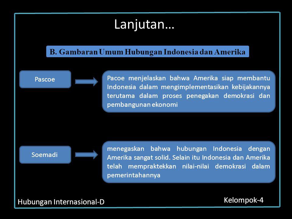 B. Gambaran Umum Hubungan Indonesia dan Amerika