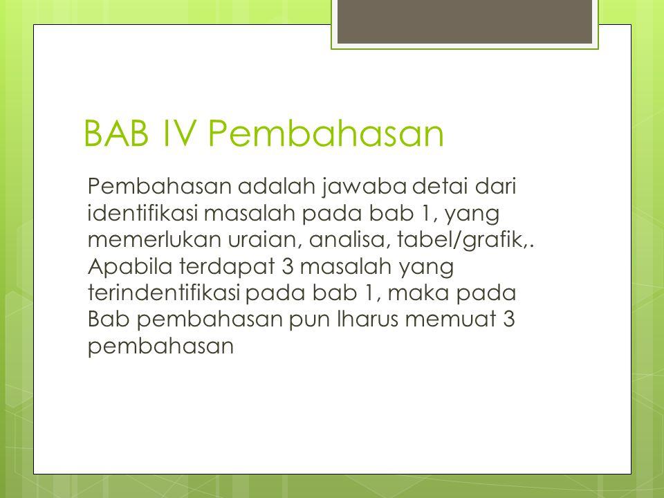 BAB IV Pembahasan