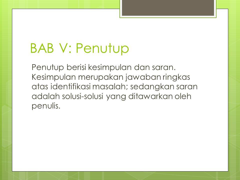 BAB V: Penutup