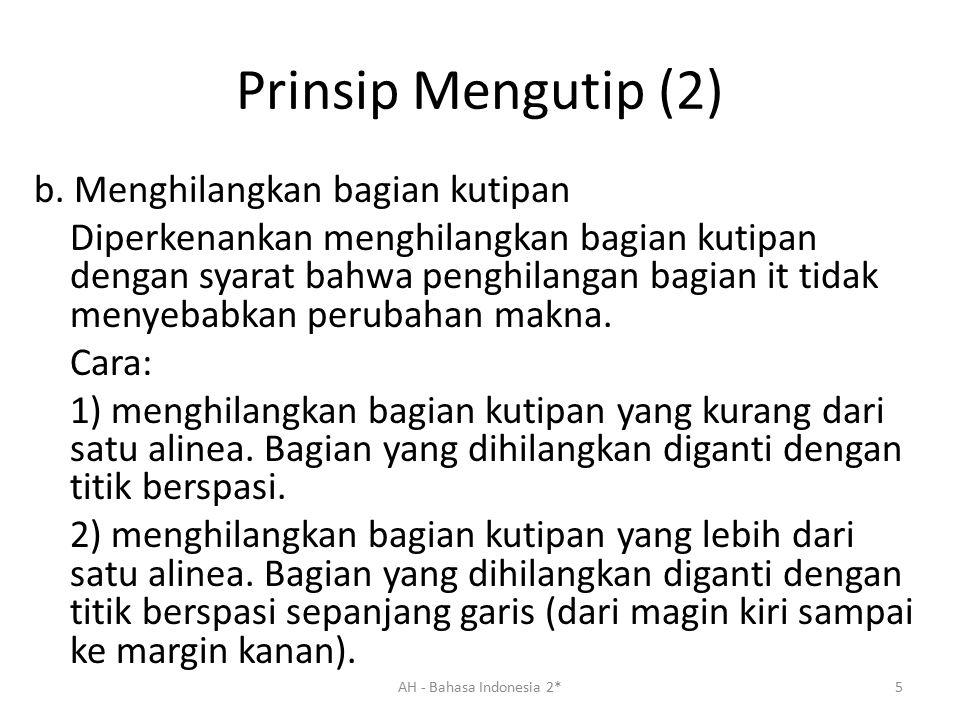 Prinsip Mengutip (2)