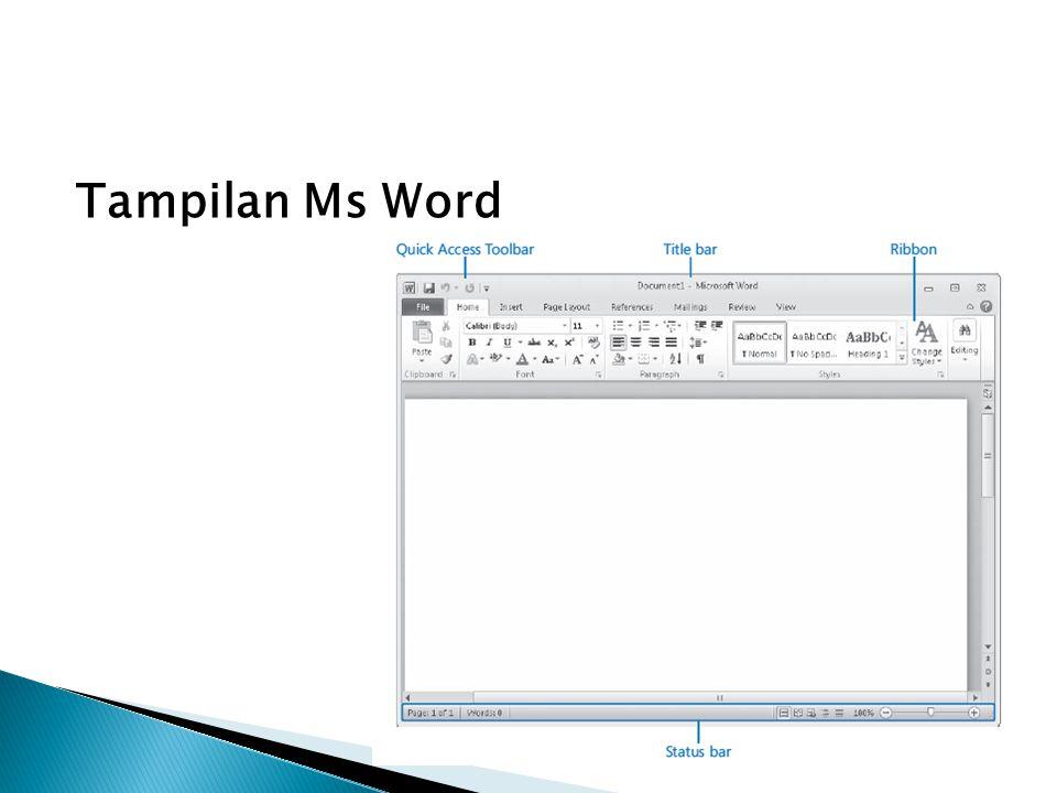 Tampilan Ms Word