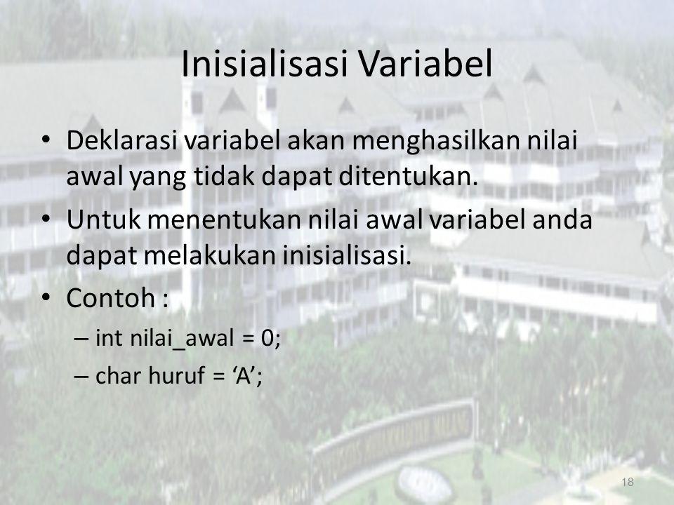 Inisialisasi Variabel