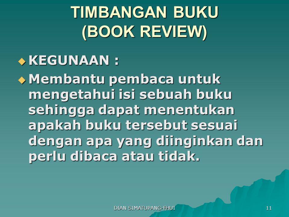 TIMBANGAN BUKU (BOOK REVIEW)