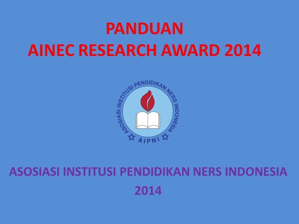 PANDUAN AINEC RESEARCH AWARD 2014
