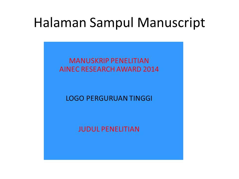 Halaman Sampul Manuscript