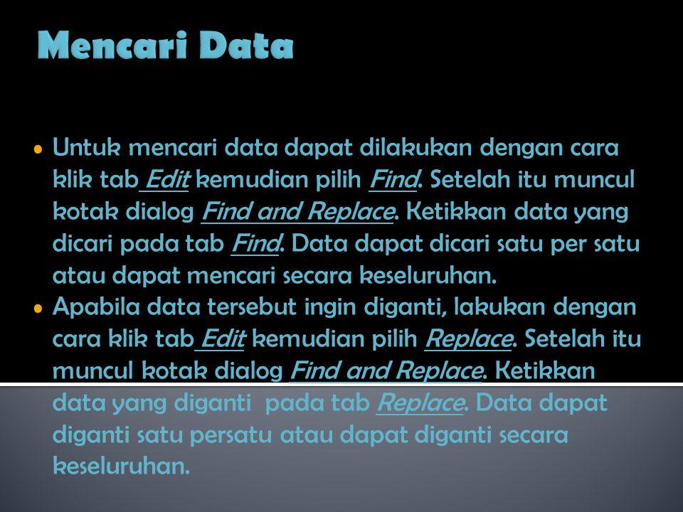 Mencari Data