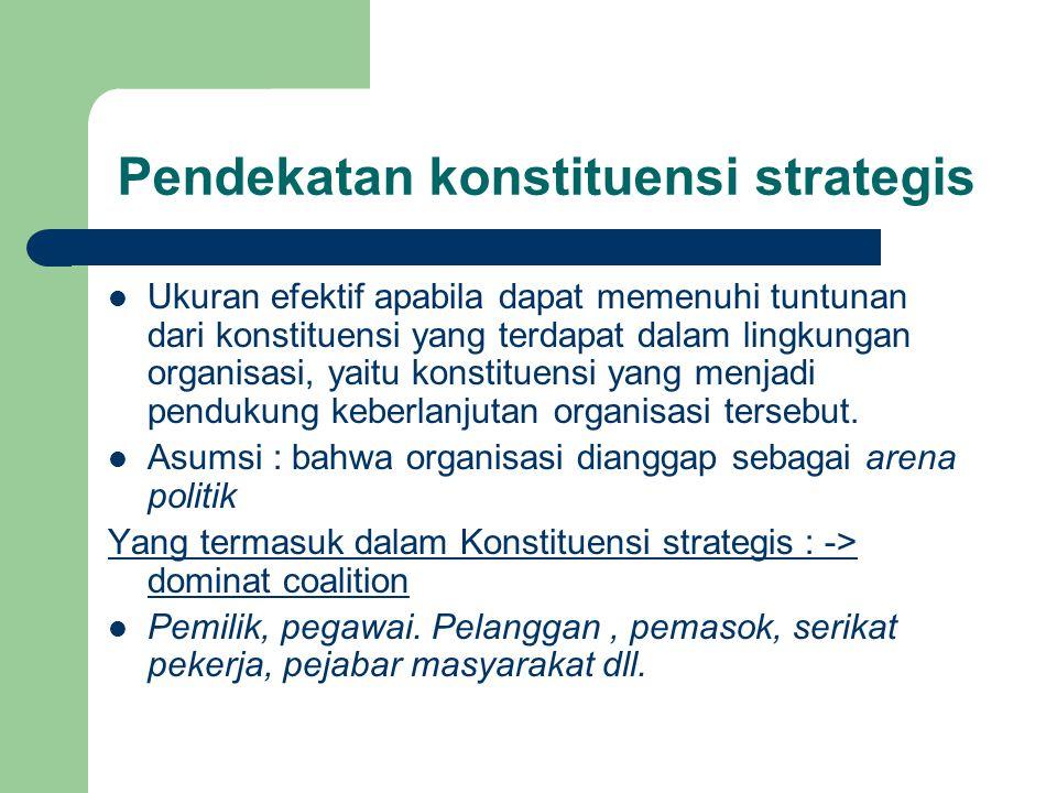Pendekatan konstituensi strategis