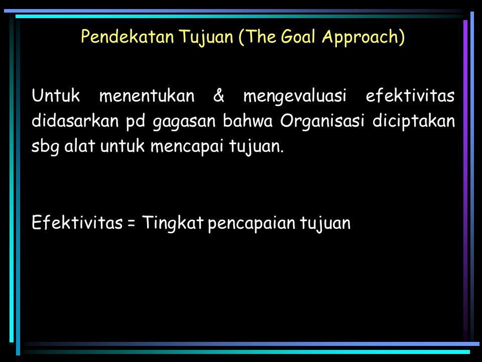 Pendekatan Tujuan (The Goal Approach)