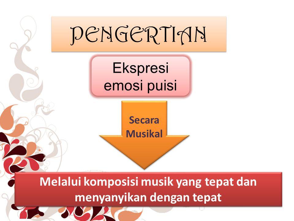 Melalui komposisi musik yang tepat dan menyanyikan dengan tepat