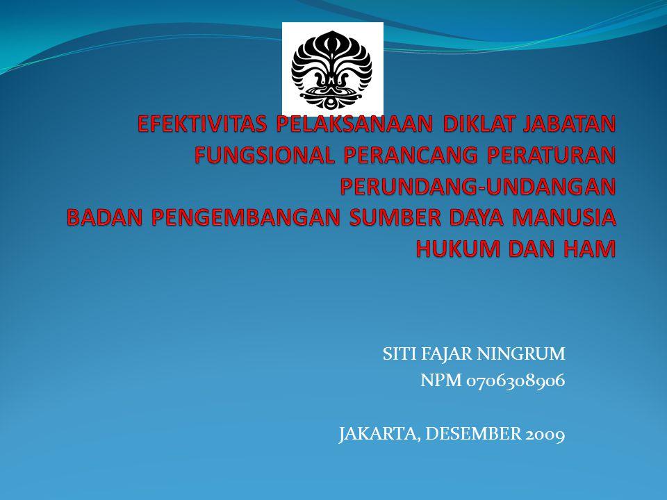 SITI FAJAR NINGRUM NPM 0706308906 JAKARTA, DESEMBER 2009