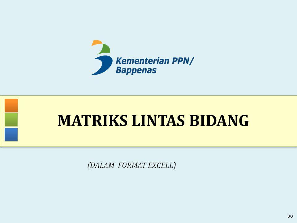 Matriks LINTAS BIDANG (DALAM FORMAT EXCELL)